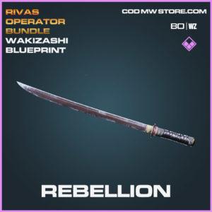 Rebellion Wakizashi blueprint skin in Cold War and Warzone