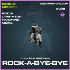 Rock-A-Bye-Bye Operator Finishing Move in Cold War and Warzone