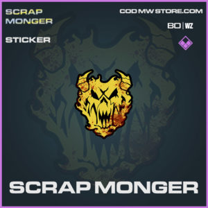Scrap Monger sticker in Cold War and Warzone