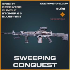 Sweeping Conquest Stoner 63 blueprint skin in Cold War and Warzone