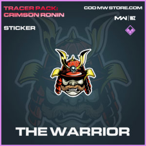 The Warrior sticker in Modern Warfare and Warzone