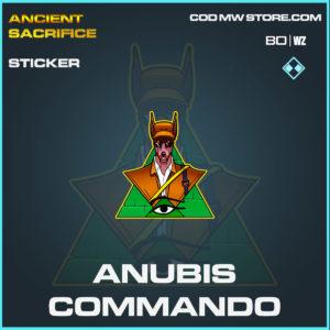 anubis commando sticker in Cold War and Warzone