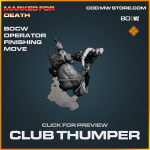 club thumper bocw operator finishing move in Cold War and Warzone