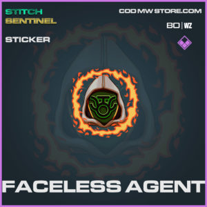 faceless agent sticker in Cold War and Warzone