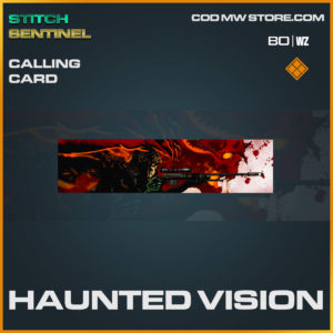 haunted vision calling card in Cold War and Warzone