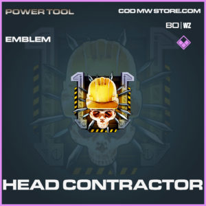 head contractor emblem in Cold War and Warzone