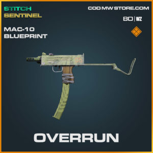 overrun mac 10 weapon blueprint in Cold War and Warzone