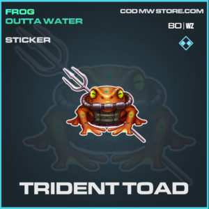 trident toad sticker in Cold War and Warzone