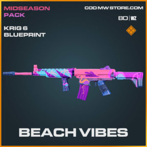 Beach Vibes Krig 6 blueprint skin in Cold War and Warzone