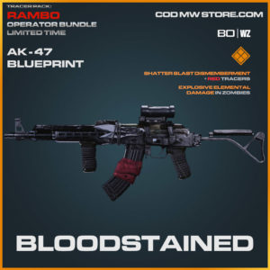 Bloodstained AK-47 blueprint skin in Cold War and Warzone