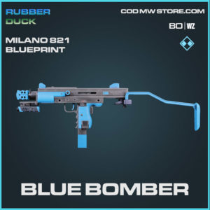 Blue Bomber Milano 821 blueprint skin in Cold War and Warzone