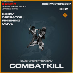 Combat Kill Operator Finishing Move in Cold War and Warzone