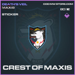 Crest of Maxis sticker in Cold War and Warzone