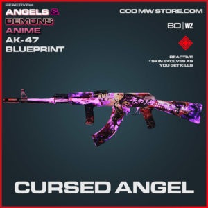 Cursed Angel AK-47 blueprint skin in Cold War and Warzone