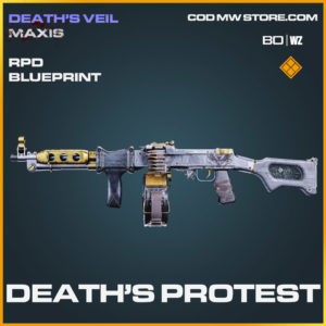 Death's Protest RPD blueprint skin in Cold War and Warzone
