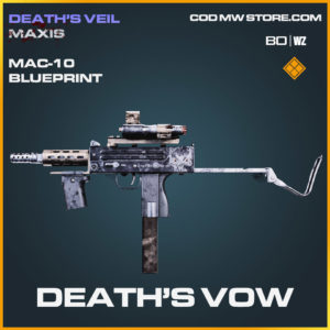 Death's Vow MAC-10 blueprint skin in Cold War and Warzone