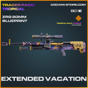 Extended Vacation ZRG 20MM blueprint skin in Cold War and Warzone