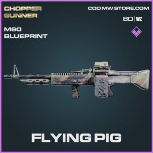 Flying Pig M60 blueprint skin in Cold War and Warzone