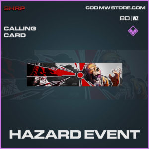 Hazard Event calling card in Cold War and Warzone