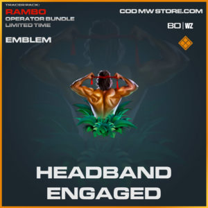 Headband eganged emblem in Cold War and Warzone