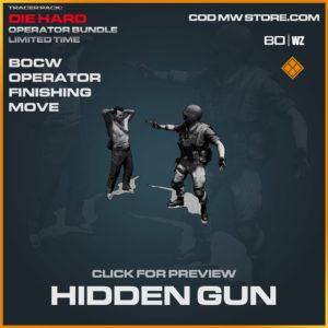 Hidden Gun Finishing Move in Cold War and Warzone