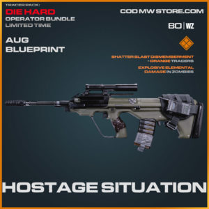 Hostage Situation AUG blueprint skin in Cold War and Warzone