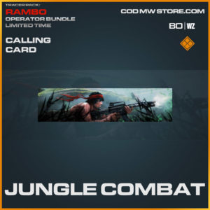 Jungle Combat calling card in Cold War and Warzone