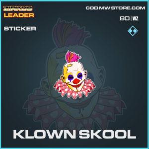 Klown Skool sticker in Cold War and Warzone