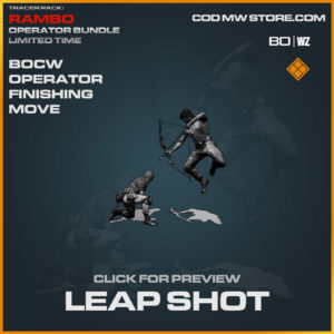 Leap Shot Operator Finishing Move in Cold War and Warzone
