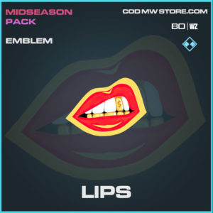 Lips emblem in Cold War and Warzone