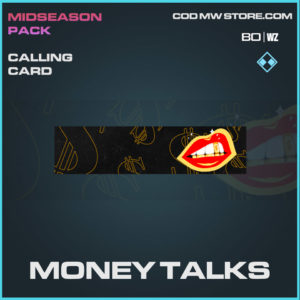 Money Talks calling card in Cold War and Warzone