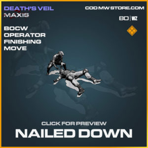 Nailed Down operator finishing move in Cold War and Warzone