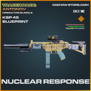 Nuclear Response KSp 45 blueprint skin in Cold War and Warzone