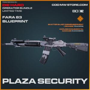 Plaza Security FARA 83 blueprint skin in Cold War and Warzone