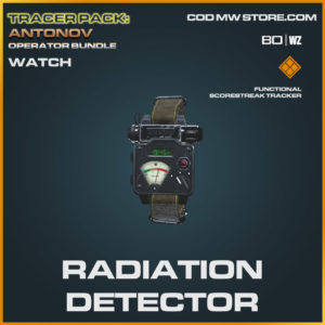 Radiation Detector watch in Cold War and Warzone