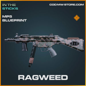 Ragweed MP5 blueprint skin in Cold War and Warzone