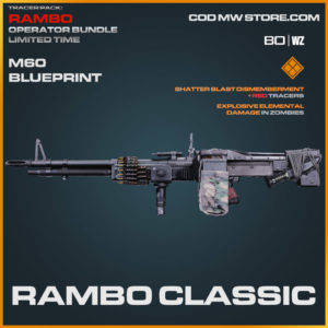 Rambo Classic M60 blueprint skin in Cold War and Warzone