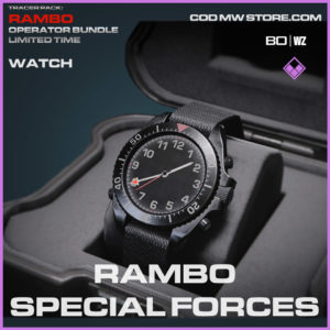 Rambo Special Forces watch in Cold War and Warzone