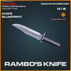 Rambo's Knife blueprint skin in Cold War and Warzone