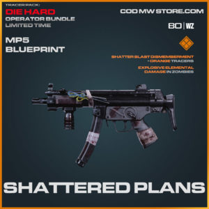 Shattered Plans MP5 blueprint skin in Cold War and Warzone