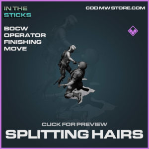 Splitting Hairs Operator Finishing Move in Cold War and Warzone