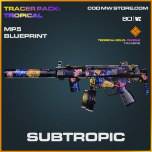 Subtropic MP5 blueprint skin in Cold War and Warzone