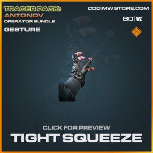 Tight Squeeze gesture in Cold War and Warzone