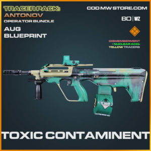 Toxic Contaminent AUG blueprint skin in Cold War and Warzone