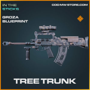 Tree Trunk Groza skin blueprint in Cold War and Warzone