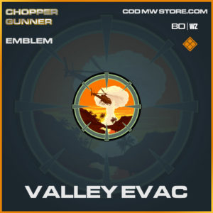 Valley Evac emblem in Cold War and Warzone