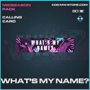 What's My Name? calling card in Cold War and Warzone