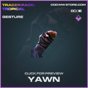 Yawn Gestures in Cold War and Warzone