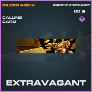 extravagant callingcard in Cold War and Warzone