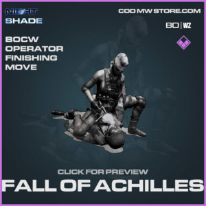 fall of achilles bocw operator finishing move n Cold War and Warzone